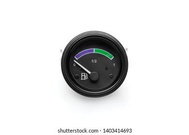 Tachometer. Gasoline pointer. Fuel gauge.