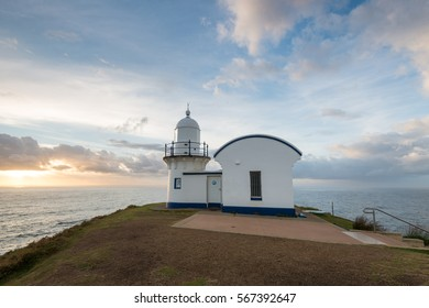 Tacking Point Lighthouse on morning time. Port Macquarie, NSW, A