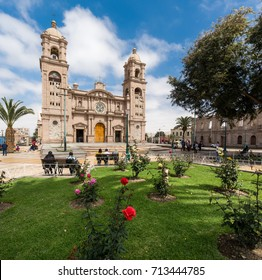 TACNA, PERU: View of the cathedral church of Tacna.