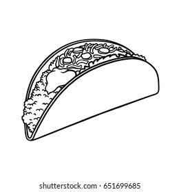Taco outline illustration