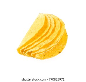 taco shells isolated on white