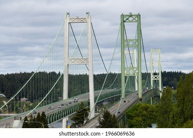Tacoma Narrows Bridge - April 27, 2021. This is the location of the infamous Galloping Gertie which collapsed in 1940.  The site now has a pair of suspension bridges opened in 1950 and 2007