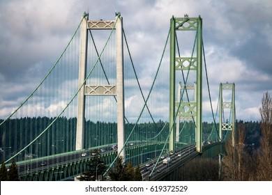Tacoma Narrows Bridge. Higher resolution.