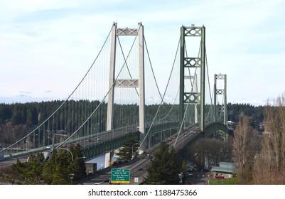 Tacoma Narrows Bridge in Washington-USA