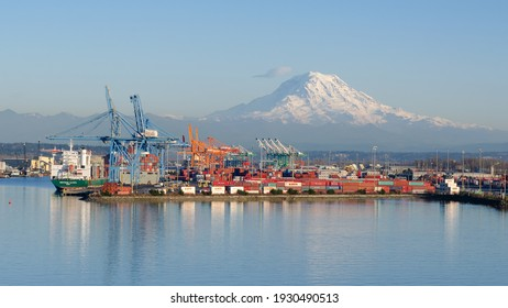 Tacoma, USA - March 11: A port and industrial city in the state of Washington on March 11, 2015  in Tacoma, USA.
