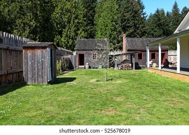 TACOMA, WA - APRIL 23,2011: Historical Fort Nisqually in Point Defiance Park, Tacoma, Washington State, USA