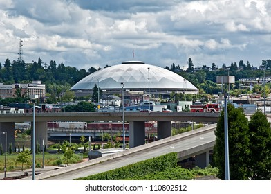 TACOMA, WA -JUNE 14:  The Tacoma Dome is one of the largest wood dome structures in the world, and hosted the 1990 Goodwill Games.  June 14, 2011, Tacoma, WA