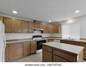 Tacoma, WA / USA - Aug. 22, 2019: Modern kitchen interior