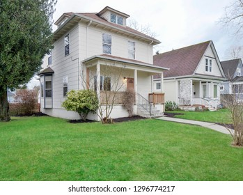 Tacoma, WA / USA - Jan. 24, 2019: Older model residential exterior