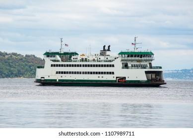 Tacoma, WA / USA - June 7, 2018: Washington State Ferry