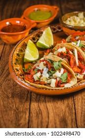 tacos al pastor lemon mexican spicy food in mexico