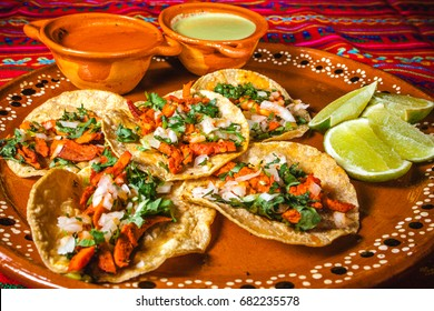 tacos al pastor in mexico city, mexican food