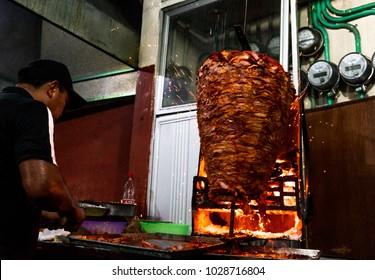 Tacos al pastor Tulum, Yucatan Mexico