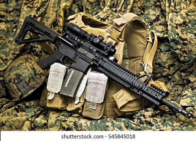 Tactical Vest with Rifle