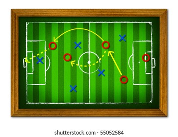 Tactics Soccer  in the wooden frame.