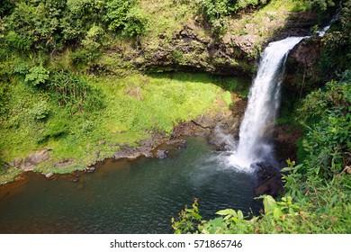 Tad E-Tu waterfall on the Boloven plateau in Laos