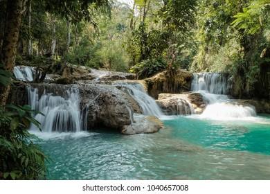 Tad Kwang Si Waterfall in Luang Prabang, Laos