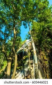 Tad Mok waterfall at Phayao province, Thailand.