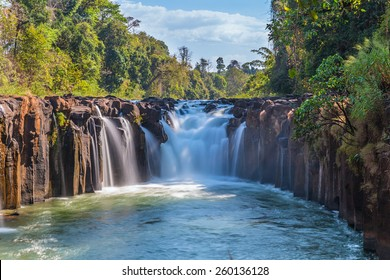 Tad Pha Souam the waterfall in Laos