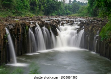 Tad Pha Suam waterfall in Laos.