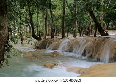Tad Sae waterfall area, Vang Vieng, Asia