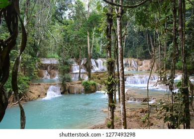 Tad Sae waterfall, a famous tourist destination in Luang Prabang, Lao