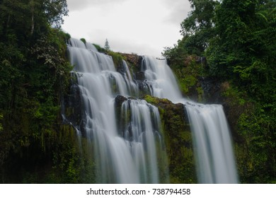 Tad Yuang Waterfall at Lao closed up.