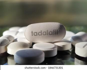 Tadalafil pill medication used to treat erectile dysfunction, benign prostatic hyperplasia and pulmonary asrterial hypertension