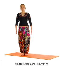 yoga tadasana images stock photos  vectors  shutterstock