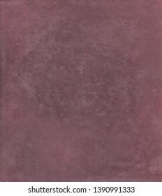 Tadelakt sample, lime coating natural and ecologic. Violet prum color texture background.
