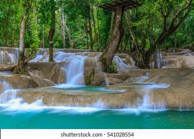 Tadsae or Tatsae waterfall in Luang Prabang, Laos