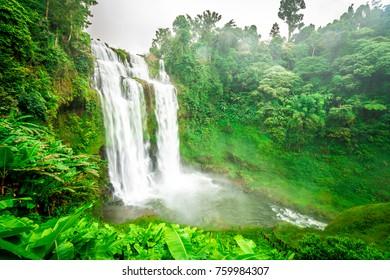 Tad-Yueng waterfall, Champasak, Laos
