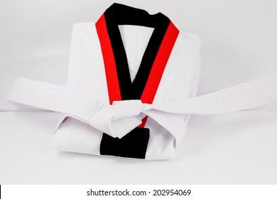 taekwondo uniform and belt