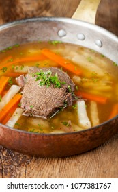 tafelspitz meat in a soup pot