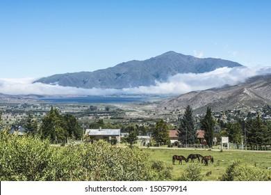Tafi del Valle lake in Tucuman province, northern Argentina.