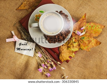 Tag Words Good Morning Cup Coffee Stock Photo Edit Now 306330845