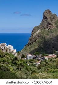 Taganana, elevated view, Anaga Rural Park, Tenerife Island, Canary Islands, Spain