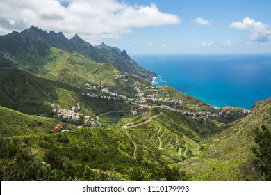 Taganana town in Tenerfie, Canary Islands, Spain.
