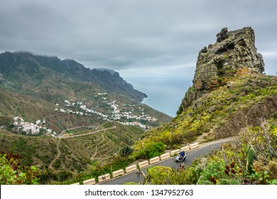 Taganana village view from Risco Mogote viewpoint in Tenerife, Canary Islands