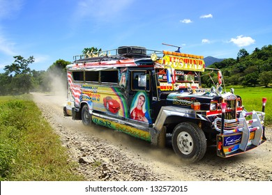 TAGBILARAN, PHILIPPINES-FEBRUARY 10: Jeepney. Jeepneys are public transport. They were originally made from US military jeeps left over from World War II on Febuary 10, 2013 in Tagbilaran,Philippines