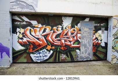 tagged graffiti