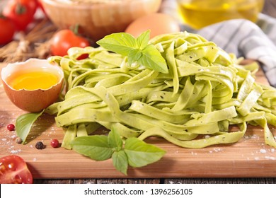 tagliatelle with egg and ingredient
