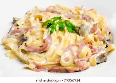 Tagliatelle pasta recipe, delicious tagliatelle pasta with mushrooms and meat