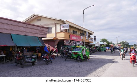 Tagum City, Philippines- March 2016: Street view at the public market in Tagum City.
