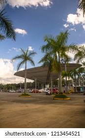 Tagum, Philippines - October 25, 2018: The Open Arena of Tagum near City Hall, northern part of Davao