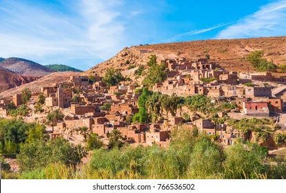 Tahanaout, a Berber village in the Ttoubkal National Park, Marocco.