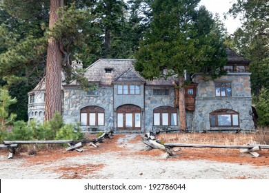 TAHOMA, CA - MAR 4, 2014: Vikingsholm is a preserved historic building at Emerald Bay, Lake Tahoe. It is an excellent example of Scandinavian architecture in the western hemisphere.