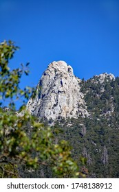 Tahquitz Rock also known as Lily Rock, a hiking and climbing rock in the San Jacinto Mountains in California near Idyllwild.