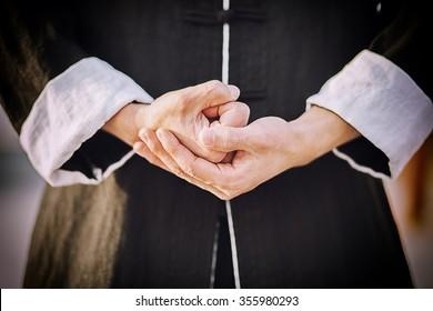 Tai chi chuan master's hands