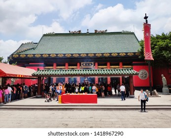 Tai Wai, Hong Kong - May 19, 2019 : Che Kung Temple, the famous temple for tourists. It was built around 300 years ago.